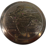 Ruby Map of India Silver Compact