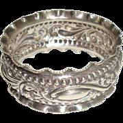 Birmingham 1896 Sterling Repousse Napkin Ring