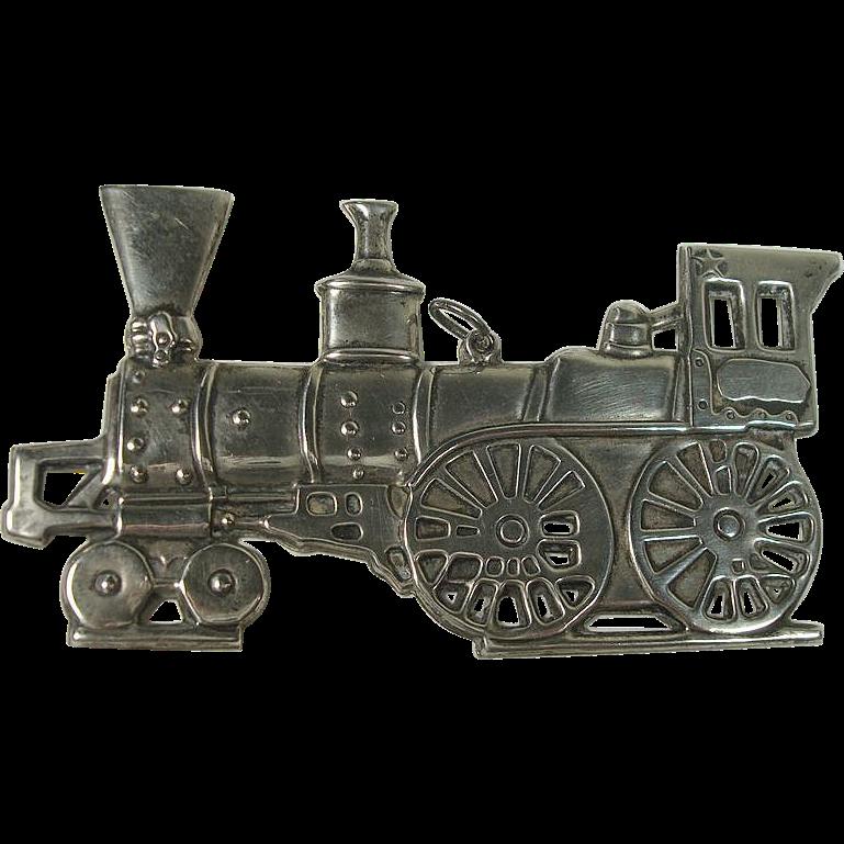 Gorham Sterling Train Locomotive Christmas Ornament 1975