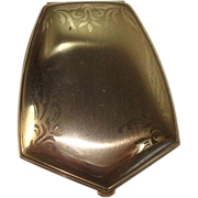 CLOSEOUT!!  Elgin American Small Gold Toned Compact