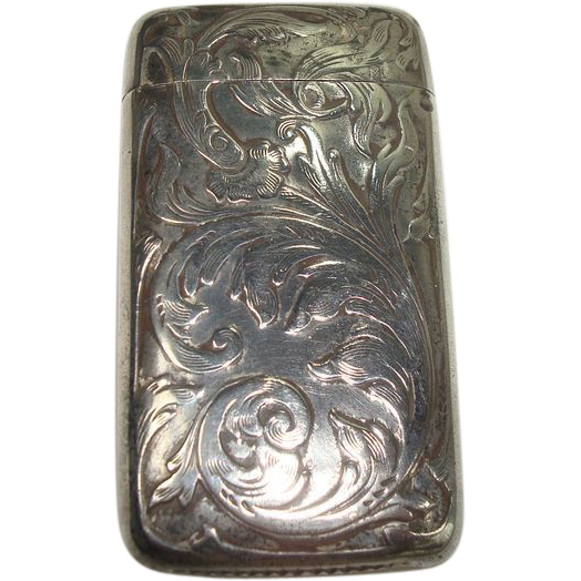 Blackinton Art Nouveau Sterling Match Safe or Vesta