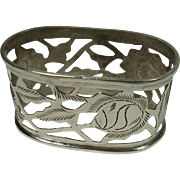 Sterling Mexican Pierced Napkin Ring