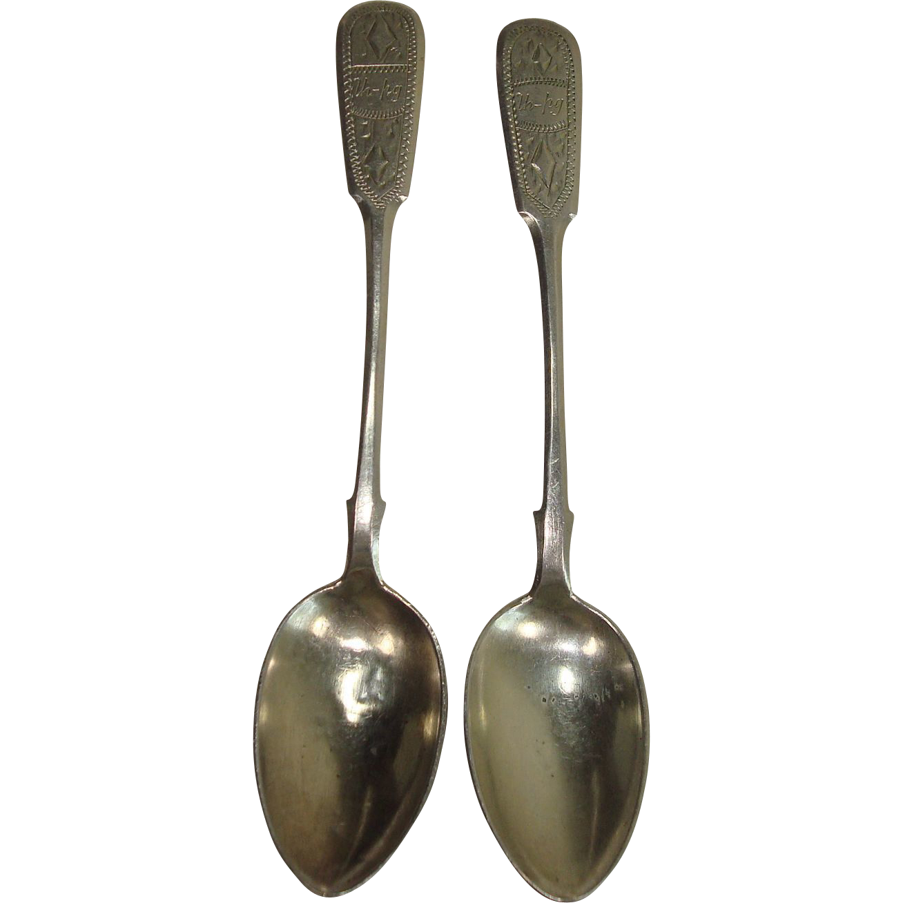 1884 Russian Demitasse Spoons Moscow