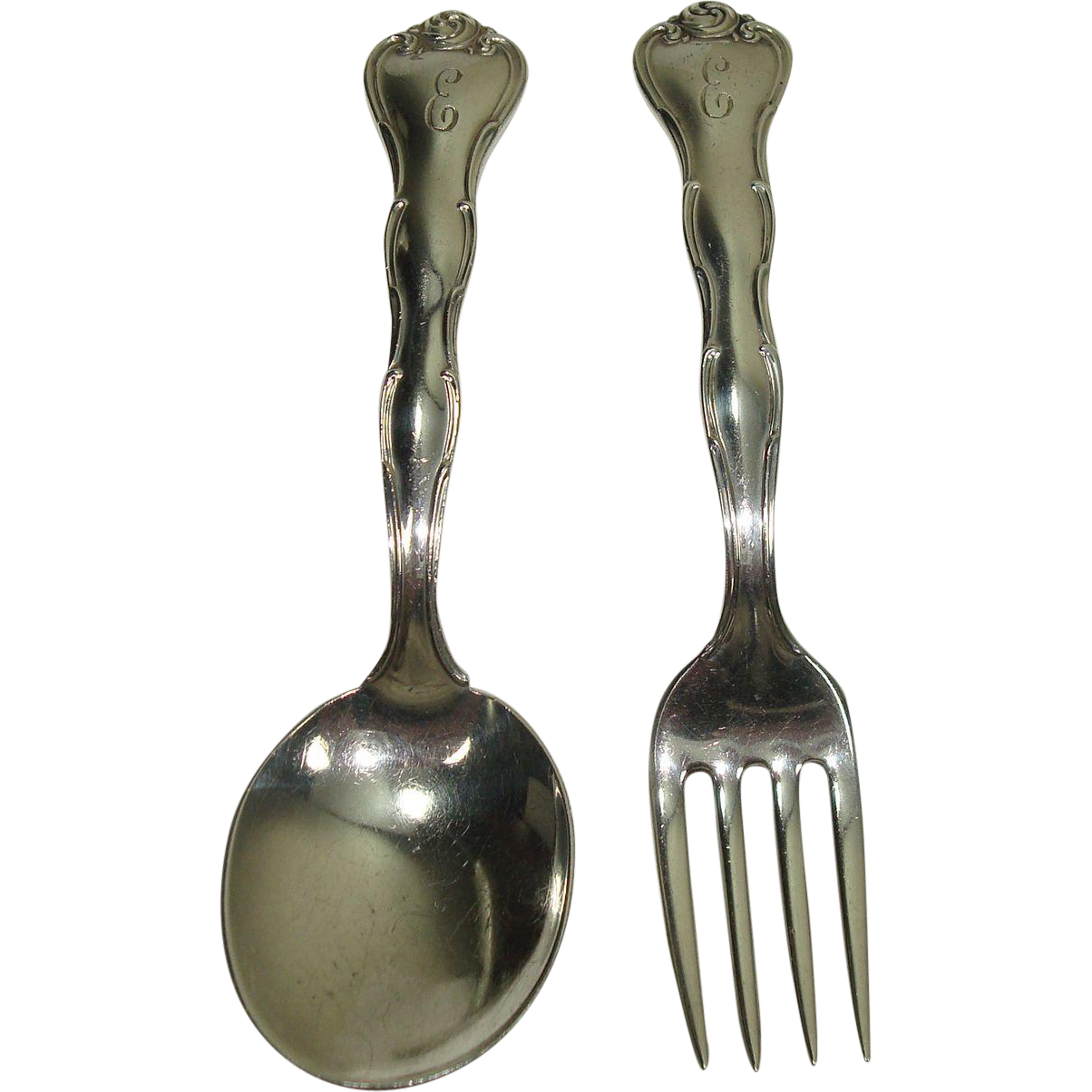 Gorham 1951 Rondo Child Fork and Spoon