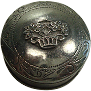 Nice Basket of Flowers Sterling Pill Box