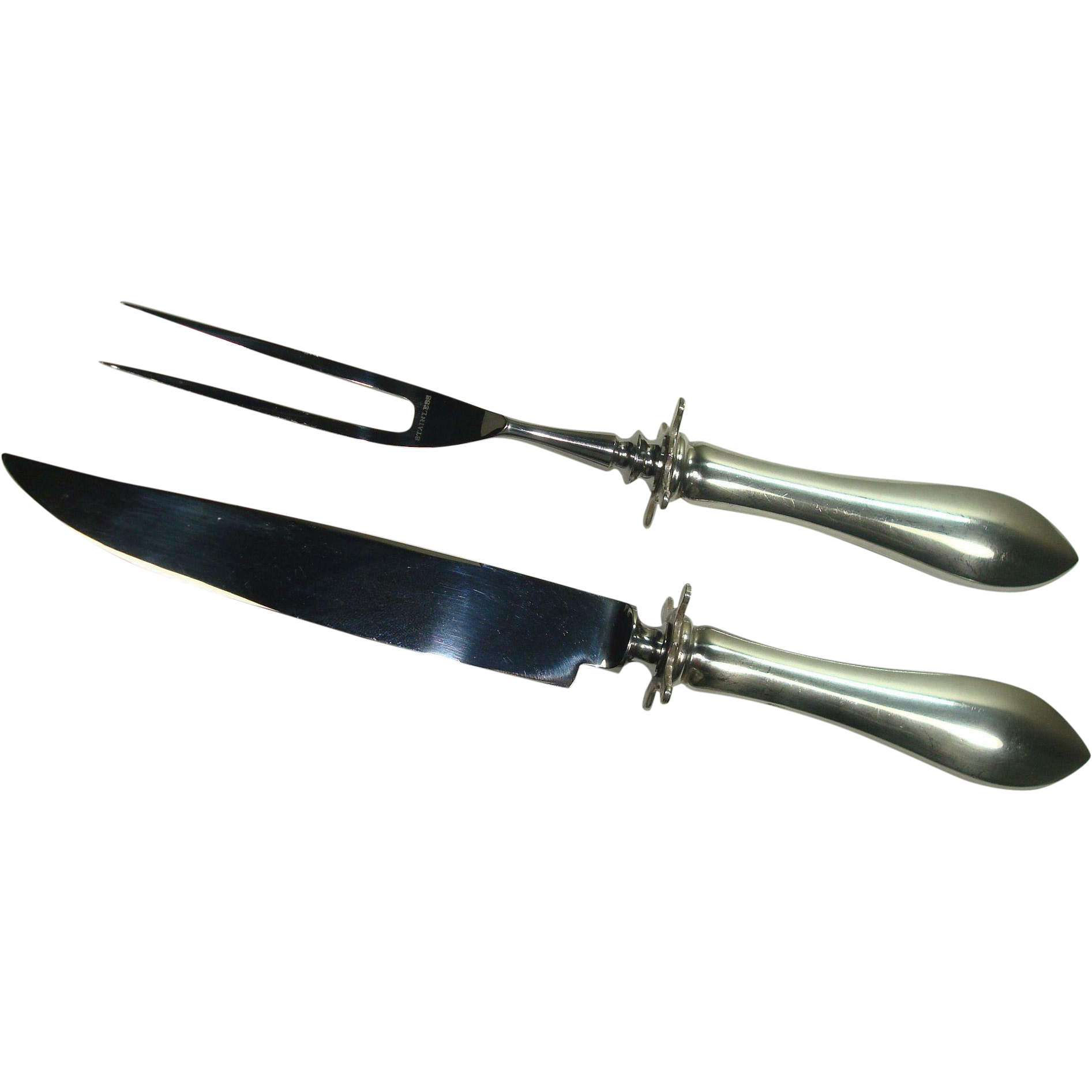 Dominick and Haff Small Steak Carving Set in the 1895 Pointed Antique pattern