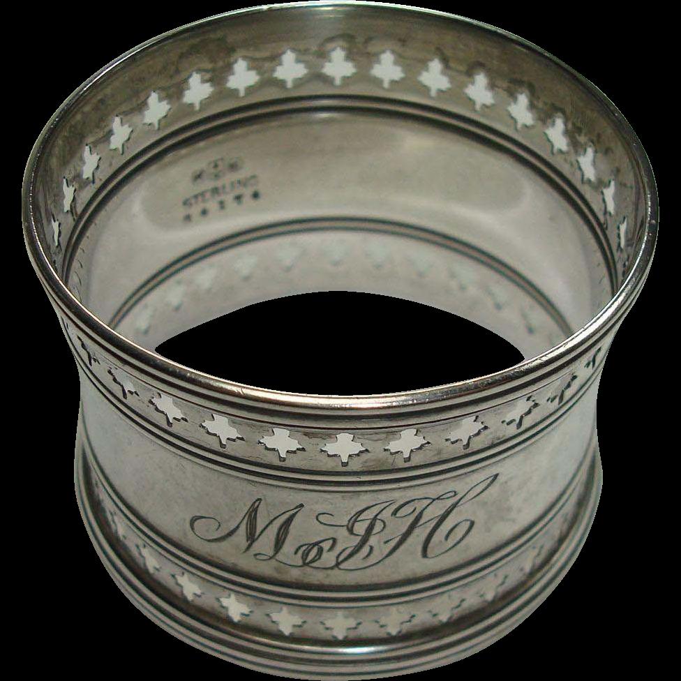 Gorham Pierced Border Sterling Napkin Ring
