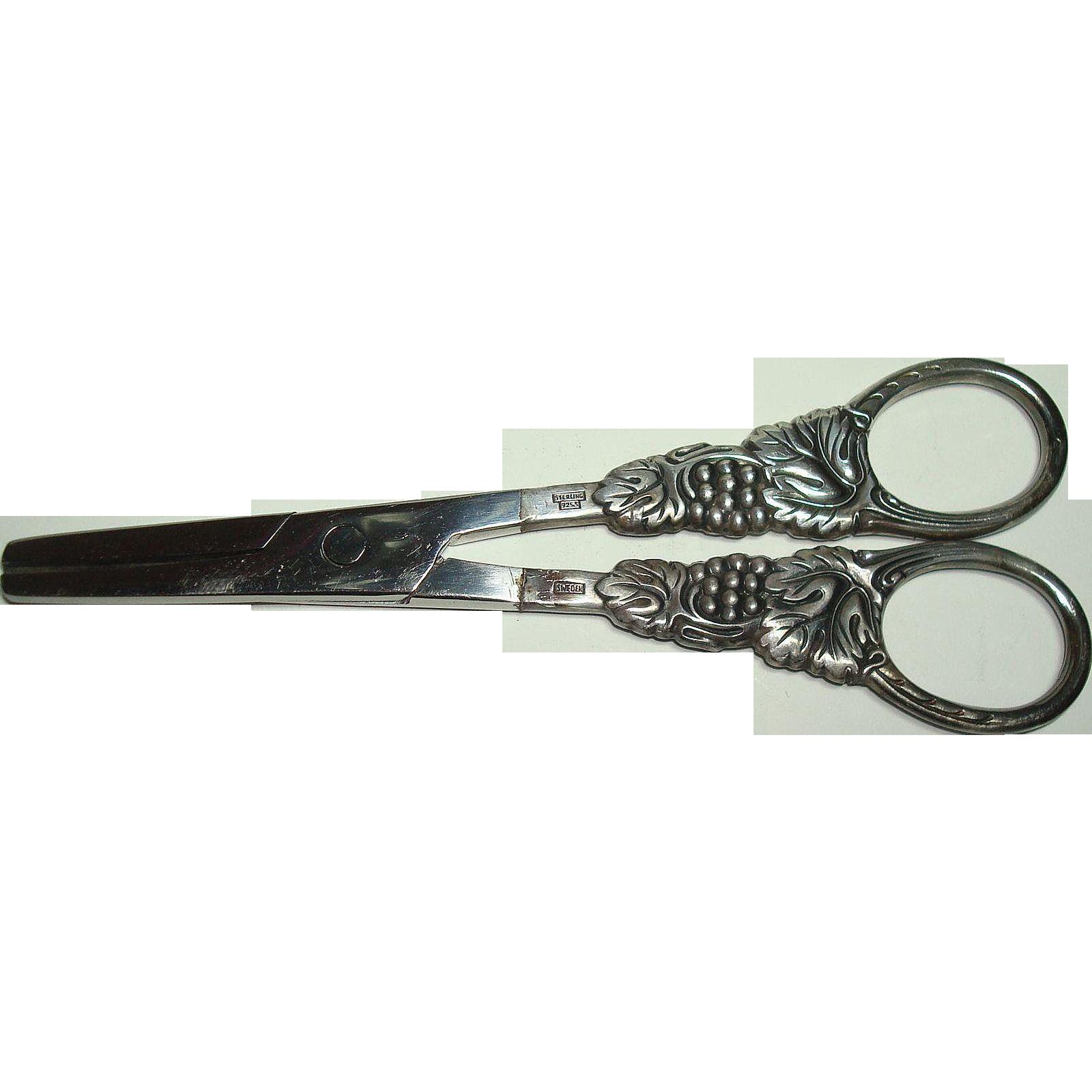 Swedish Sterling Grape Scissors