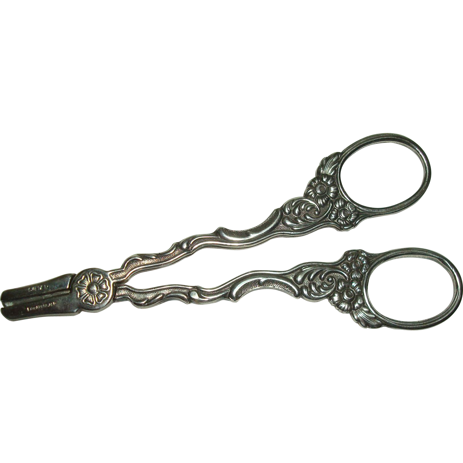 Swedish Silver Plate Floral and Acanthus Scissors