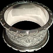 1901 Sterling Birmingham Napkin Ring