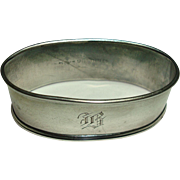 Webster Sterling Oval Napkin Ring