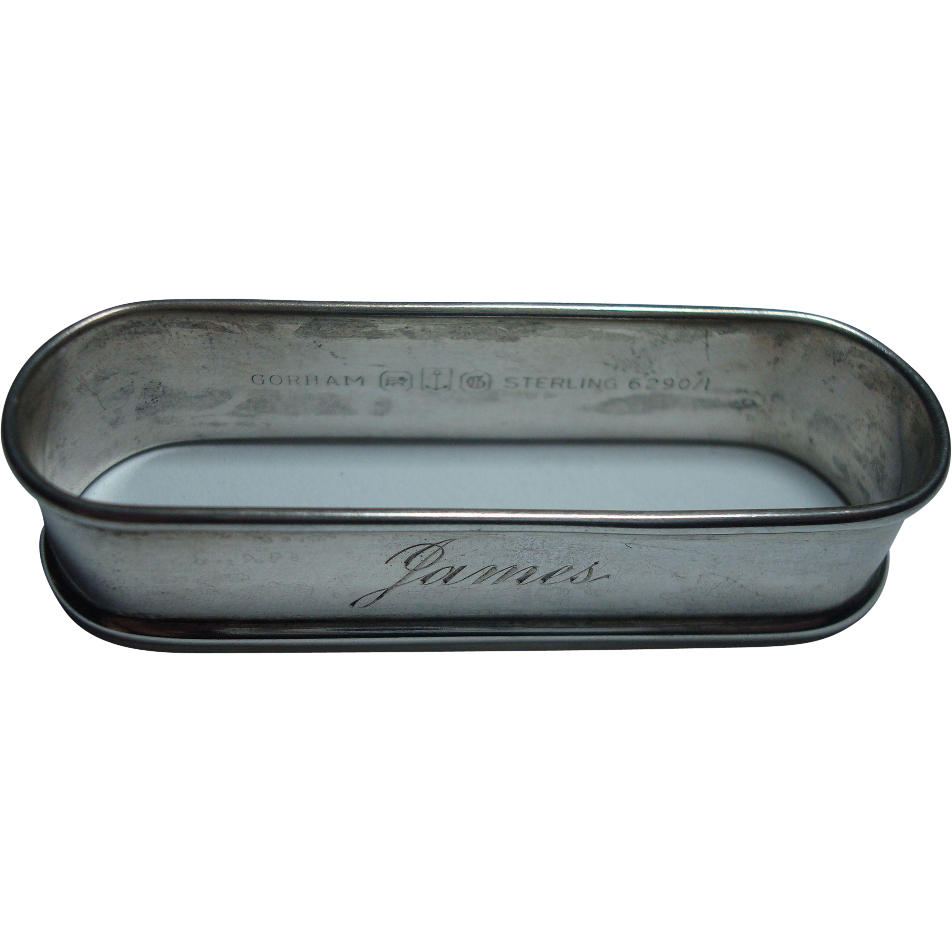 "Gorham Sterling ""James"" Napkin Ring"