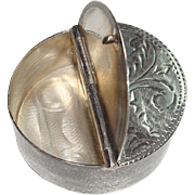 Sterling Two Sided Acanthus Pill Box