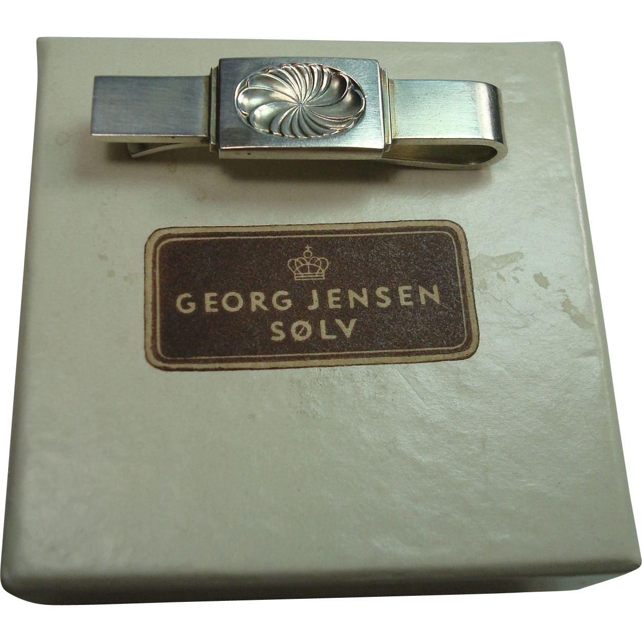 georg jensen denmark sterling 76b tie bar with box from silverbypatrick on ruby lane. Black Bedroom Furniture Sets. Home Design Ideas