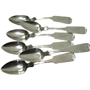 Wm W White & Son Fiddle Tipt Teaspoons