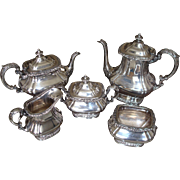 Gorham Silverplate Shell and Gadroon Tea and Coffee Service