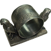Gorgeous Pewter Owl Napkin Holder