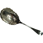 Large Sterling Floral and Leaf Wilbur and Peters Serving Spoon