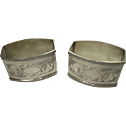 Matching 800 Silver Acanthus Napkin Rings