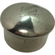 Simons Bros. Sterling Cylindrical Form Pill Box