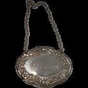S Kirk & Son Bourbon Decanter Label