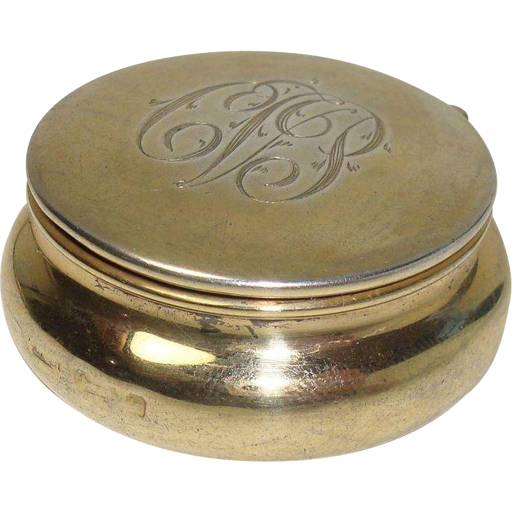 Birmingham 1909 William Hair Haseler Rouge Pot or Pill Box