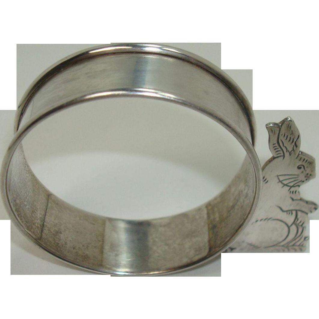 Webster Sterling Bunny Napkin Ring