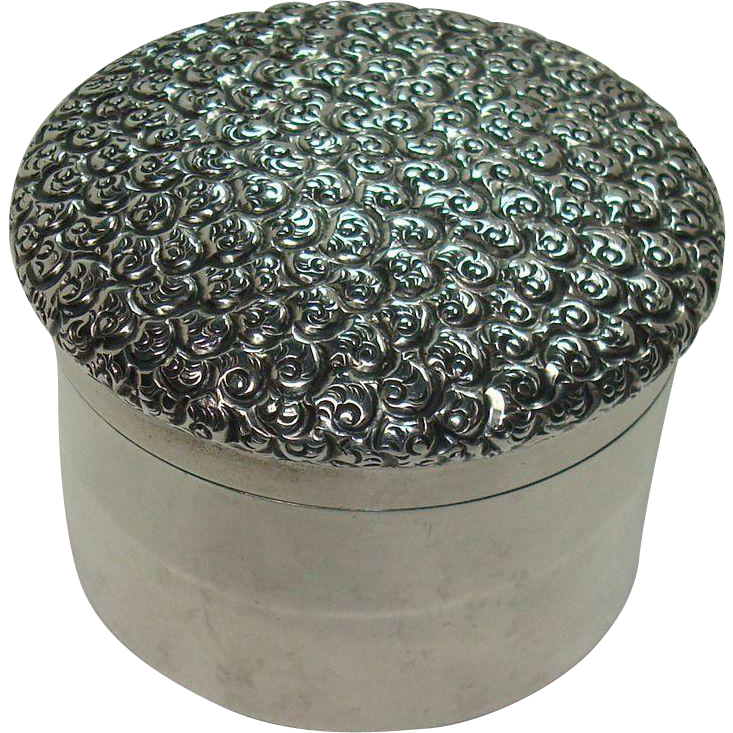 Sterling Vanity Pill or Trinket Box