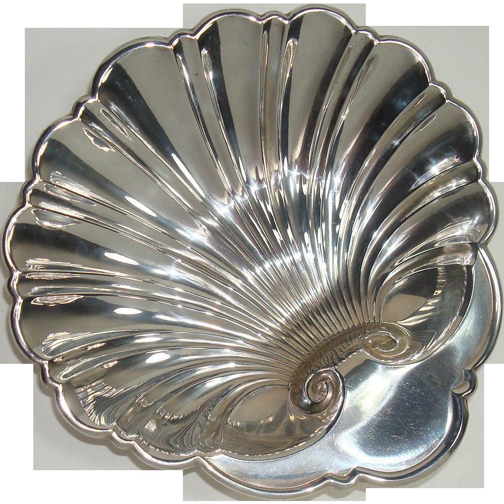 Gorham Sterling Scalloped Dish