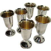 Set of 6 Web Sterling Cordials