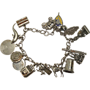 16 Charms Sterling Charm Bracelet