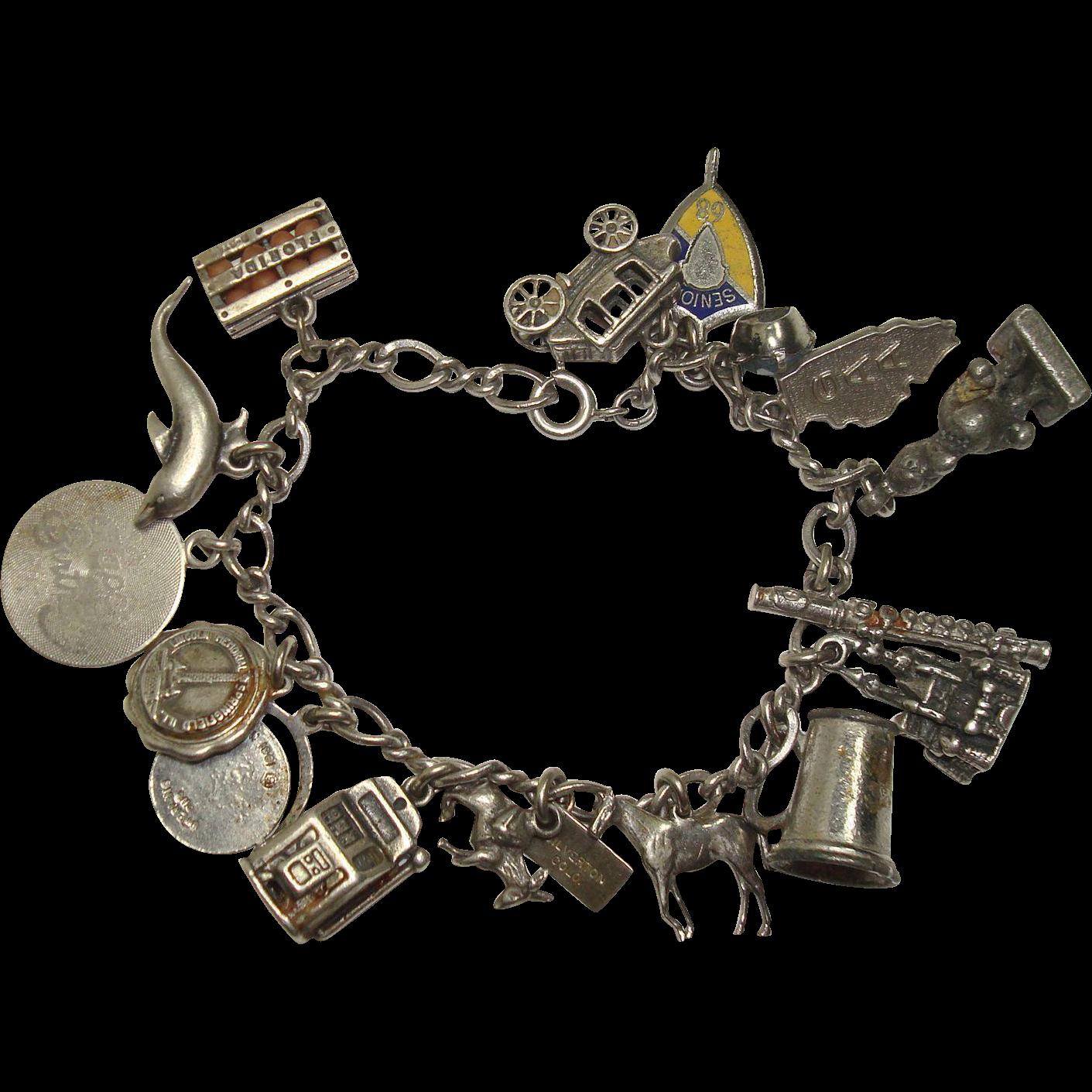 16 Charms Sterling Charm Bracelet