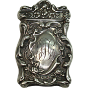 Gilbert Rose and Acanthus Sterling Match Safe or Vesta
