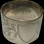 c. 1890's Kilpatrick & Co Silver Napkin Ring