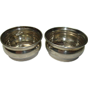 Pair Sterling Salt Cellars