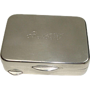 800 Silver Rectangular Pill or Snuff Box