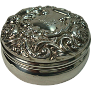 Continental Sterling Bird and Acanthus Pill Box