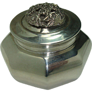 Italian Sterling Floral Lid Ribbed Pot