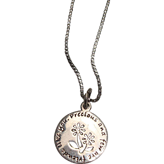 """Precious and Few are Friends Like You Sterling Pendant and 18"""" Italian Box Chain"""