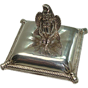 Silverplate Winged Goddess Pill Box