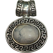 CLOSEOUT!!!  Sterling Howlite Slide or Pendant