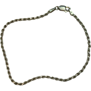 """Sterling Italian 7 1/2"""" rope Bracelet"""