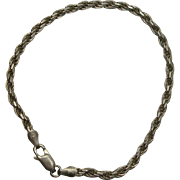 """Italian Sterling 8"""" Rope Bracelet"""