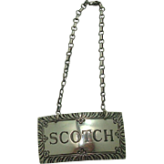 Stieff Scotch Sterling Decanter Label