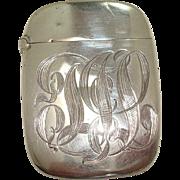 Sterling Ornate Script Match Safe or Vesta