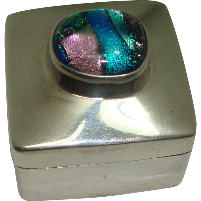 Heavy Multi Colored Mexico Pill Box