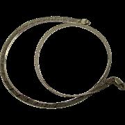 "Italian 20"" Reversible Herringbone Sterling Necklace"