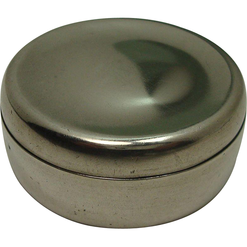 Whiting Pot Style Sterling Pill Box