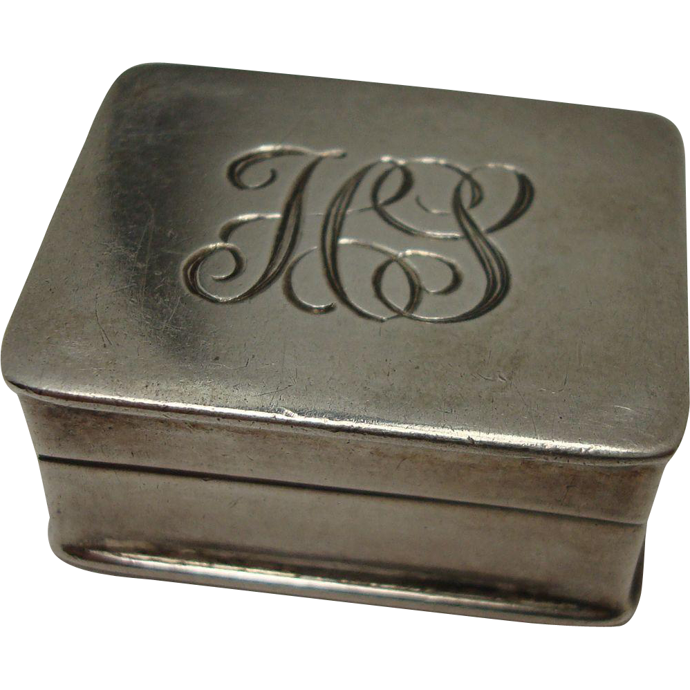 Cute Sterling Volupte Hinged Pill Box