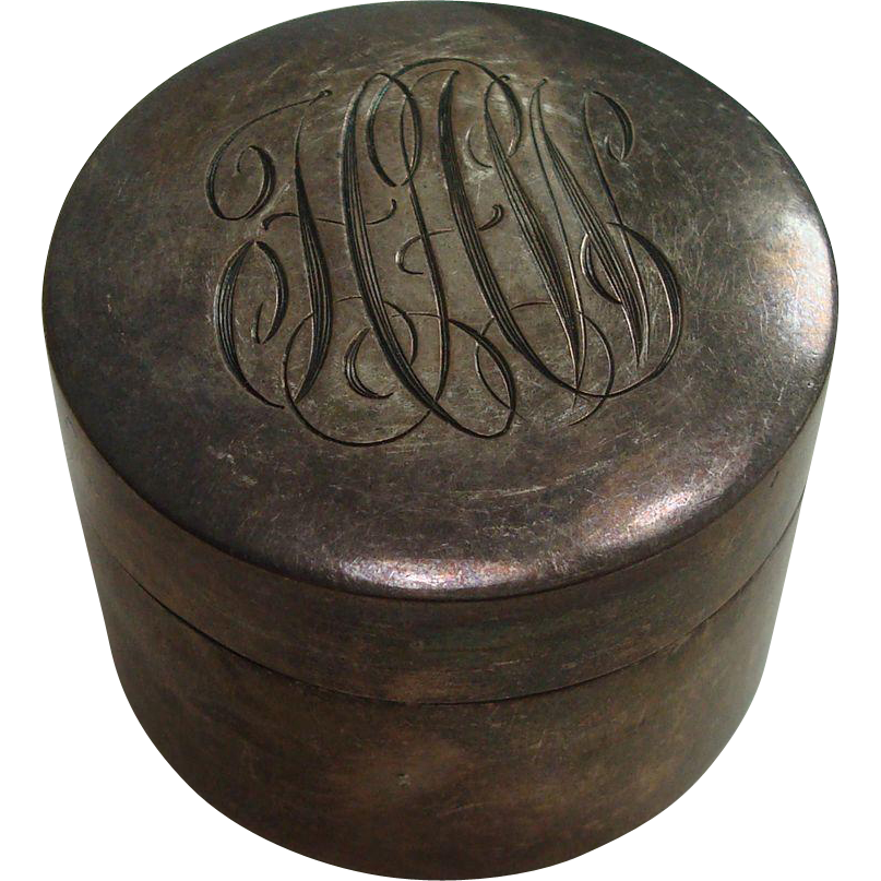 National Silver Sterling Round Pill Box